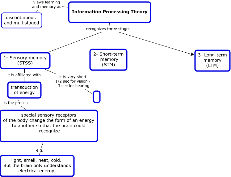 Memory Concept Map.Information Processing Theory